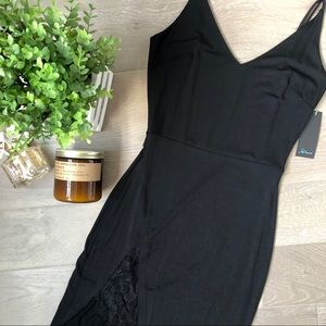 🆕✨ Sexy Lace Slit Bodycon Little Black Dress